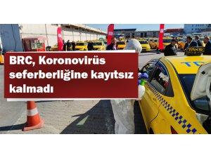 Havalimanı Taksileri dezenfekte ediliyor