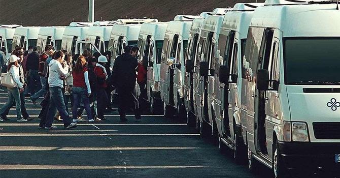 Servis araçları koltuk sayısı kadar yolcu taşıyabilir