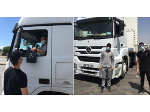 Kamyon Sürücülerine Mercedes'ten bayram ziyareti
