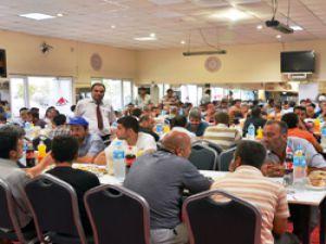 1200 kamyon şoförü CEVA İftar Yemeği'nde Bir araya Geldi