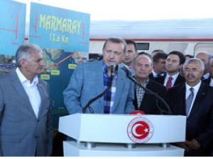 Marmaray'ın İlk Test Sürüşünü Başbakan Erdoğan Yaptı