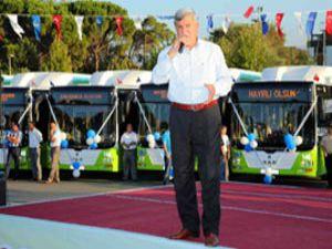 Kocaeli Büyükşehir Belediyesi filosuna 10 Doğalgazlı Otobüs Ekledi