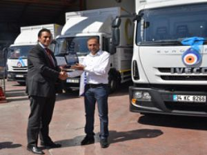 Can Varil'e 8 adet İveco Eurocargo kamyon teslim edildi