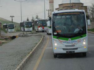 Bitlis'te 25 adet Isuzu markalı Halk otobüsü sefere başladı