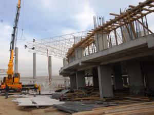 Otogar inşaatı, hızla devam ediyor