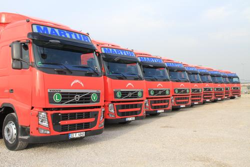 Martur Taşımacılık, 15 adet yeni FH460 Volvo Kamyonu filosuna kattı