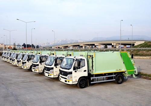 Çevre Bakanlığı'na 158 adet Otokar Atlas kamyon
