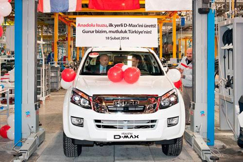 Anadolu Isuzu ilk yerli üretim D-Max'ı üretim bandından indirdi