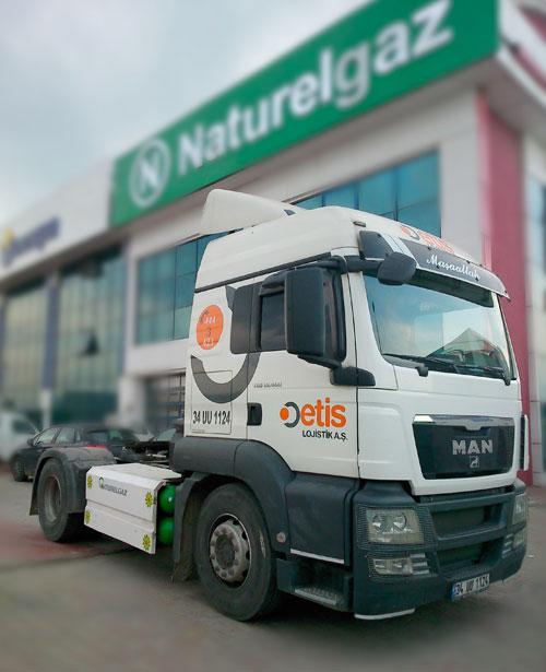 Etis Lojistik filosunu CNG motorlarıyla donatıyor