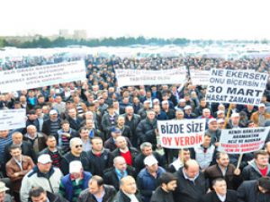Servis şoförleri plaka tahdidi için Kazlıçeşme' de eylem yaptı