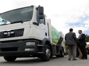 MAN'dan daha sessiz çalışan çöp kamyonu ve kompozit itfaiye aracı