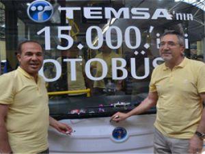 TEMSA'nın 15.000'inci otobüs mutluluğu…
