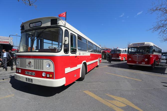 İETT'nin nostaljik otobüsleri sefere başladı