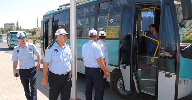 Trafik Zabıta Halk Otobüslerinde Klima Denetimi Yaptı