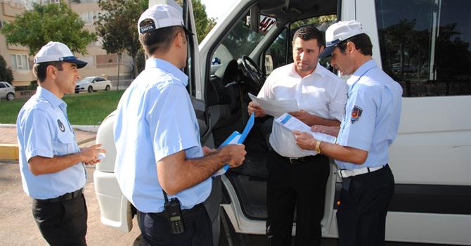 Trafik Zabıta'dan Servislere Denetim