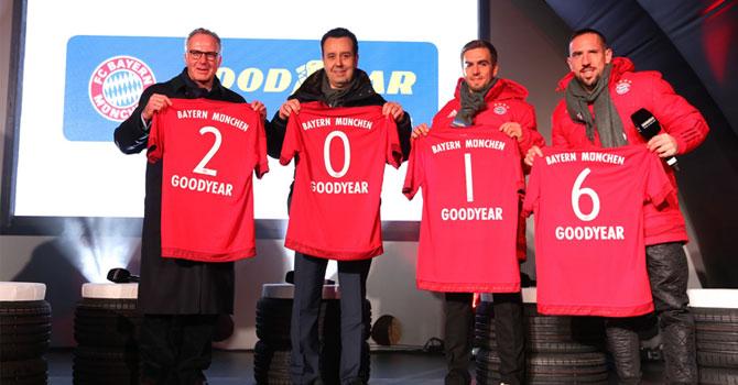Goodyear, Bayern Münih'e Sponsor Oldu