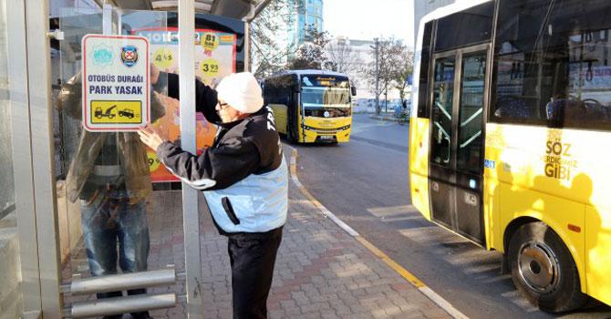 Otobüs Duraklarına Araç Park Edenlere Ceza