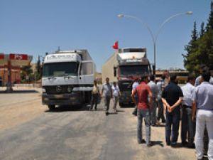 Suriyeli Şoförler Türk şoförlerince durduruluyor