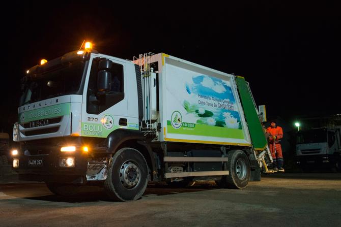 Bolu Belediyesi CNG'li kamyon kullanmaya başladı