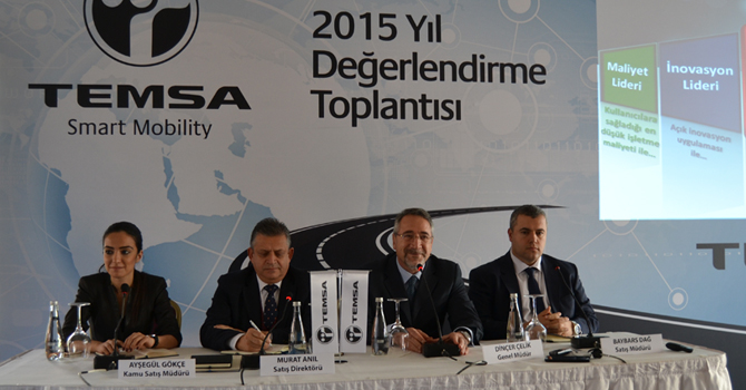 TEMSA, 2015'te Yine Pazar Lideri