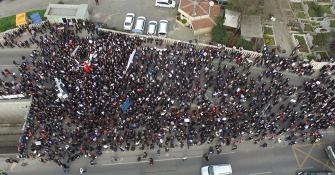 Edirnekapı Eylemenin Helikopter Görüntüleri