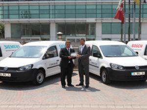 Bosch-Siemens, Caddy ve Transporter'ı tercih etti
