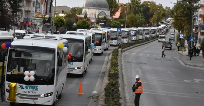 Edirne Belediyesi'ne  50 adet Isuzu Novociti