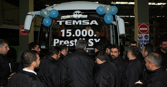 TEMSA, 15 bininci Prestij'i banttan indirdi