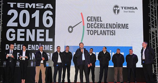 TEMSA 2016 yılını çalışanlarıyla birlikte değerlendirdi