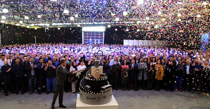 Mercedes-Benz Türk 50. yılını  kutladı