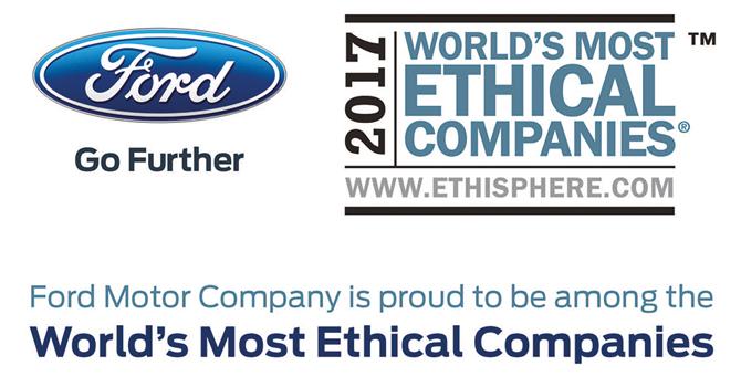 Ford, 8. kez 'Dünyanın en etik şirketleri' arasında