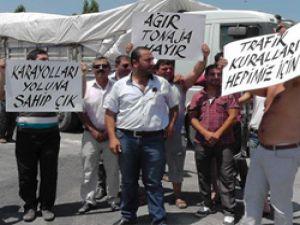 Beyşehirli nakliyecilerden meslektaşlarına 28 bin liralık ceza