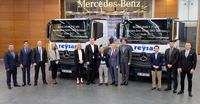 Reysaş Lojistik'e 15 adet Mercedes-Benz Actros