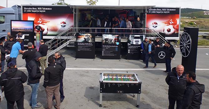 Mercedes kamyon şoförleri ile buluşuyor