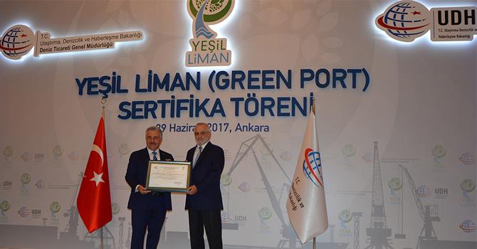 Borusan Lojistik'e Eko Liman Sertifikası