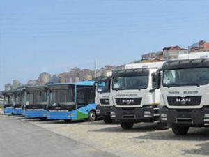 Trabzon Belediyesi araç parkına 10 yeni araç kattı