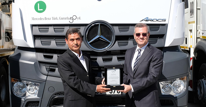 125 adetlik Mercedes-Benz Arocs teslimatı