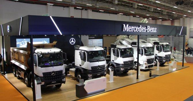 Arocs araçlar Beton İzmir 2018 Fuarı'nda