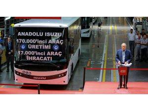 Anadolu Isuzu yüz yetmiş bininci aracını üretti