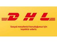 DHL, sosyal mesafe kuralına logosu ile dikkat çekti