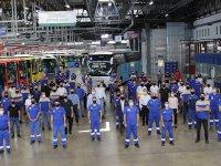 95.000'inci otobüs banttan indi