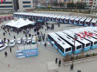 Erzurum'a CNG'li otobüsler teslim edildi