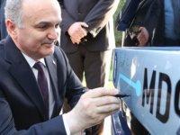 Bakan Faruk Özlü elektirikli Temsa'yı test etti.