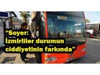 İzmir Toplu ulaşım kullanımında virüs kaynaklı azalma